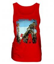 L.A. Grunge Print Ladies Vest