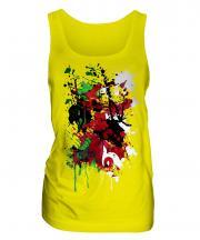 Wales Flag Abstract Print Ladies Vest