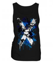 Scotland Flag Abstract Print Ladies Vest