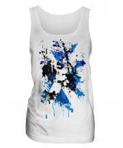Scotland Flag Abstract Print Ladies Vest
