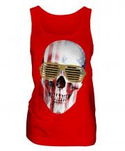 Stars And Stripes Skull Ladies Vest