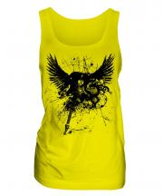 Grunge Guitar Tattoo Ladies Vest