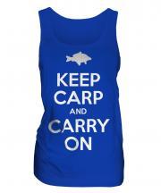 Keep Carp And Carry On Ladies Vest