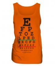 Blurred Eye Test Chart Ladies Vest