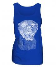 American Bulldog Sketch Ladies Vest
