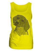 Beagle Sketch Ladies Vest