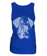 Dalmation Sketch Ladies Vest