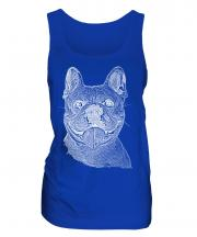 French Bulldog Sketch Ladies Vest