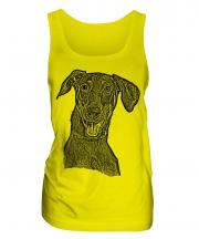 Doberman Pinscher Sketch Ladies Vest