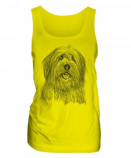 Old English Sheepdog Sketch Ladies Vest