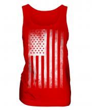 Stars And Stripes Faded Print Ladies Vest