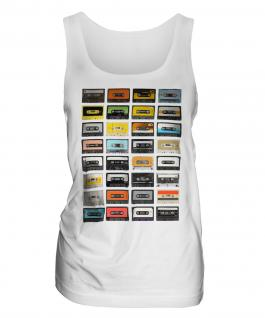 Retro Cassette Tapes Ladies Vest