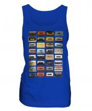 Retro Cassette Tapes Ladies Vest