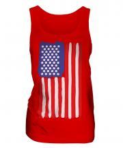 Stars And Stripes Painted Flag Ladies Vest