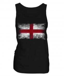 England St George Distressed Flag Ladies Vest