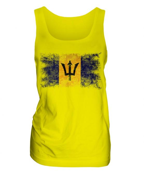 Barbados Distressed Flag Ladies Vest