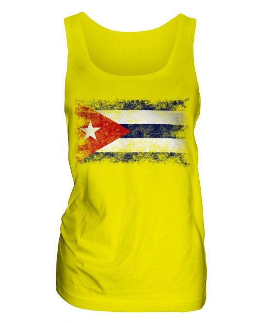 Cuba Distressed Flag Ladies Vest