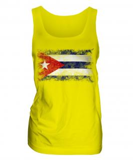 Cuba Distressed Flag Ladies Vest