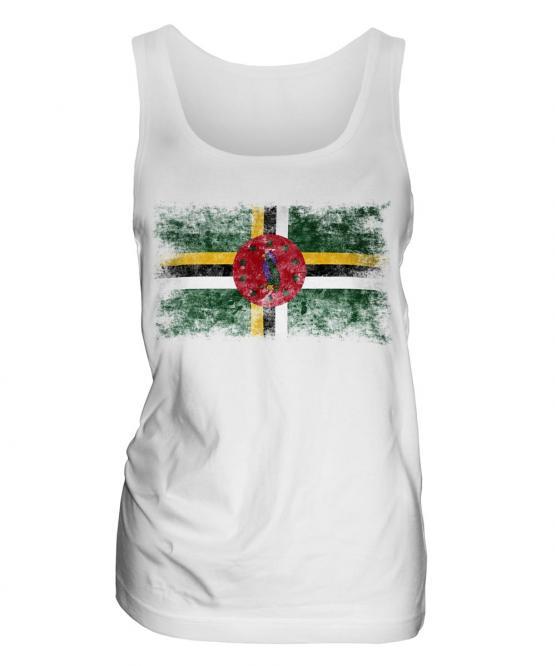 Dominica Distressed Flag Ladies Vest