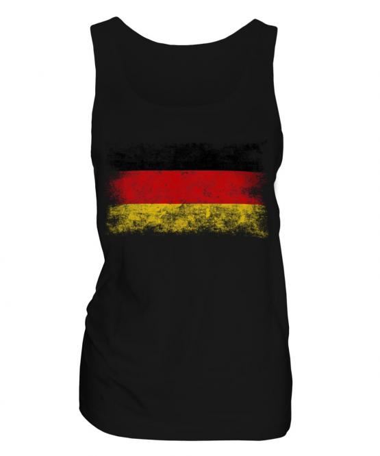 Germany Distressed Flag Ladies Vest