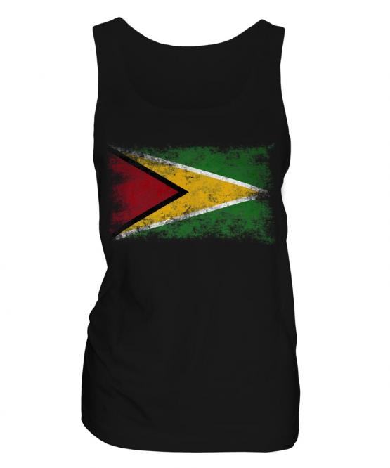 Guyana Distressed Flag Ladies Vest