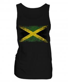 Jamaica Distressed Flag Ladies Vest