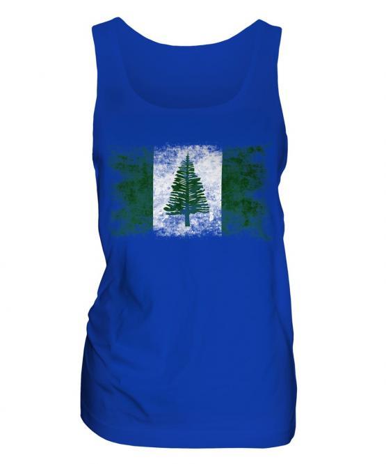 Norfolk Island Distressed Flag Ladies Vest