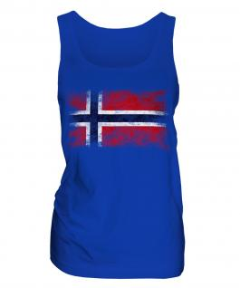 Norway Distressed Flag Ladies Vest