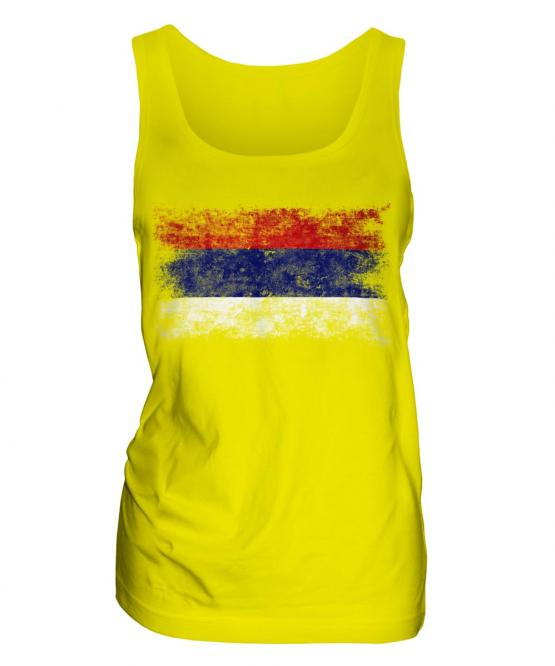 Republika Srpska Distressed Flag Ladies Vest