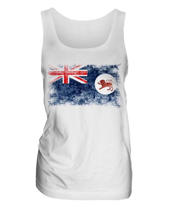Tasmania Distressed Flag Ladies Vest