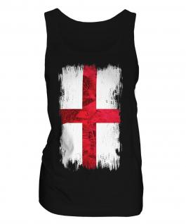 England St George Grunge Flag Ladies Vest