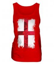 England St George Grunge Flag Ladies Vest