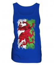 Wales Grunge Flag Ladies Vest