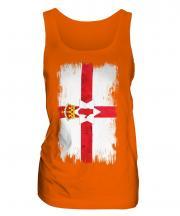 Northern Ireland Grunge Flag Ladies Vest