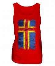 Aland Grunge Flag Ladies Vest