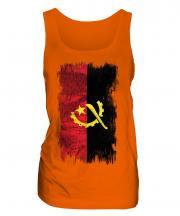 Angola Grunge Flag Ladies Vest