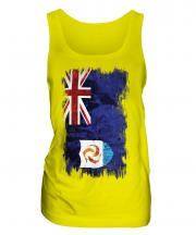Anguilla Grunge Flag Ladies Vest