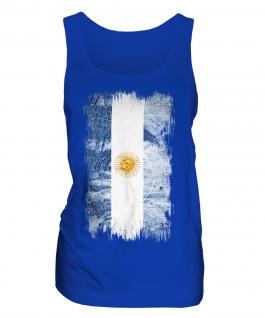 Argentina Grunge Flag Ladies Vest