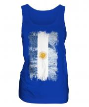Argentina Grunge Flag Ladies Vest