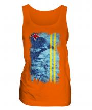 Aruba Grunge Flag Ladies Vest