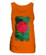 Bangladesh Grunge Flag Ladies Vest