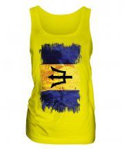Barbados Grunge Flag Ladies Vest