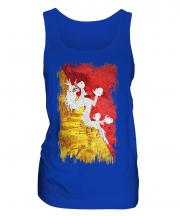 Bhutan Grunge Flag Ladies Vest