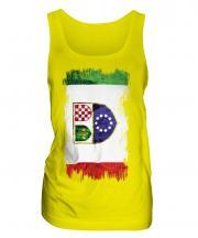 Bosnia And Herzegovina Federation Grunge Flag Ladies Vest