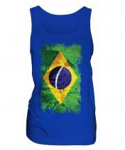 Brazil Grunge Flag Ladies Vest