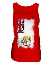 British Antartic Territory Grunge Flag Ladies Vest