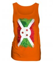 Burundi Grunge Flag Ladies Vest