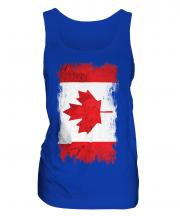 Canada Grunge Flag Ladies Vest