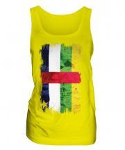 Central African Republic Grunge Flag Ladies Vest