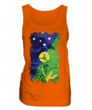 Christmas Island Grunge Flag Ladies Vest